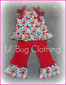 Custom Hello Kitty Pant & Top Birthday Girl Outfit