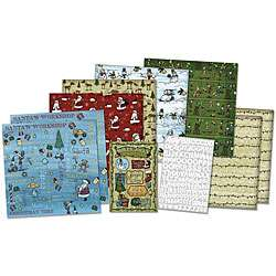 Karen Foster Whimsical Christmas 12 x 12 Scrapbook Page Kit