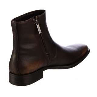 Kenneth Cole New York Mens Clean Cut Brown Leather Boots FINAL SALE