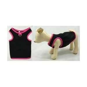 Black with Pink trim Dog Tank Top   Large Kitchen