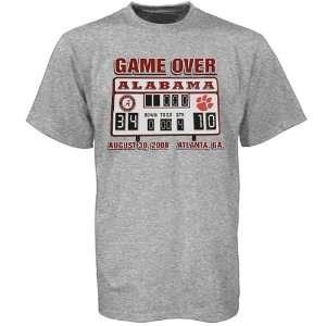 Crimson Tide Ash Game Over Scoreboard T shirt