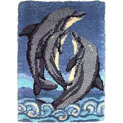 Wonderart Dolphins Latch Hook Kit