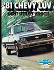 1981 Chevrolet Luv Truck Deluxe Sales Brochure Book