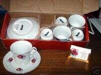RED HAT LADIES CUPS & SAUCERS SET TEA SET GIFT