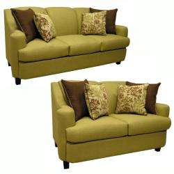 Lansing Lime Green Fabric Sofa and Loveseat  Overstock