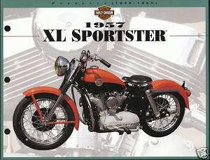 1957 HARLEY DAVIDSON ZL SPORTSTER BIKE 8.5 X 11 Print