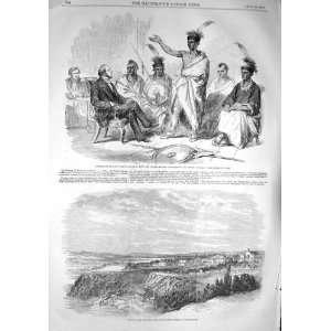 1857 OTTAWA CANADA KAW INDIANS AMERICA COMMISSIONER
