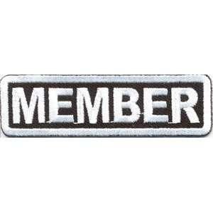 MEMBER CLUB WHITE BORDER MC Quality Biker Vest Patch