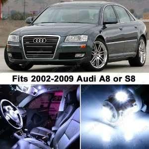 Audi A8 S8 WHITE LED Lights Interior Package Kit D3 (12
