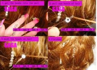 hair extension bead accessories shinning rhinestone crystal beads 12