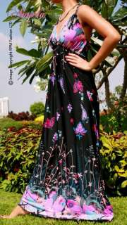 NWT Floral Evening Summer Women Sexy Long Maxi dress Size M   XXXL CA