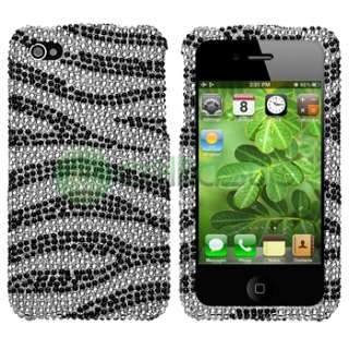 Bling Diamond Case+2x Privacy Shield For iPhone 4 s 4s 4G Gen