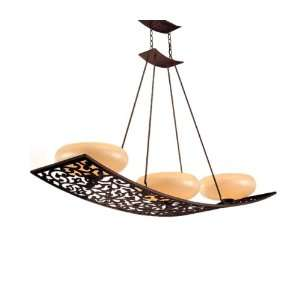 Tahitian Bronze Energy Star Island Light with French Ice Glass 85 53 F