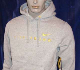 063) 2XL Nike LiveStrong Performance Cotton Poly Hoodie