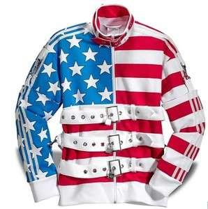 Originals JEREMY SCOTT Stars and Stripes Track Jacket USA Fashion