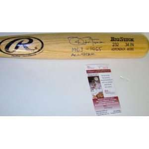 Joe Pepitone Autographed Bat   Adirondack 1963 65 ALL STAR JSA