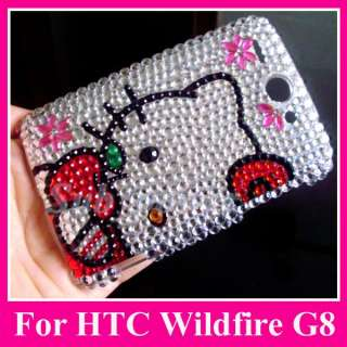 Hello Kitty S7 Bling Crystal Case Cover HTC Wildfire G8