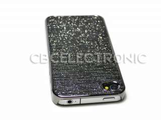 New Black silver shiny Chrome hard case back cover for Iphone 4G 4S
