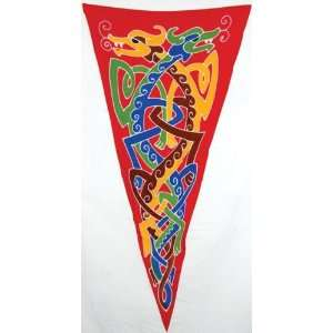 Celtic Double Dragons Pennant: Home & Kitchen