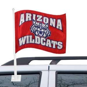 Arizona Wildcats Red Team Logo Car Flag Automotive