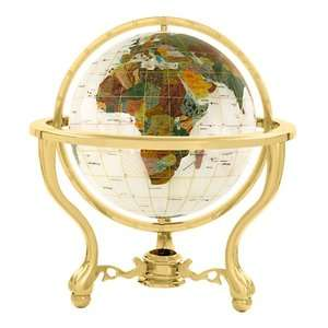 Kalifano 9 Full Mop Commander Globe with Three Leg Stand in Gold