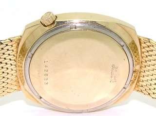 Gold Bulova Accutron N1 Day Date Diamond Dial Bracelet 2182 Watch 93gr