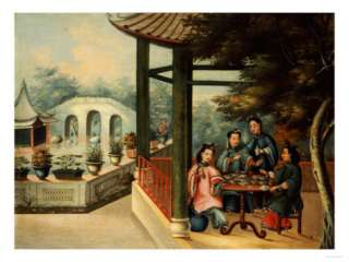 Chinese Garden Scenes with Ladies Taking Tea, Chinese School, Mid 19th