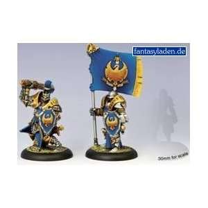 Cygnar Sword Knight Officer & Standard Warmachine: Toys
