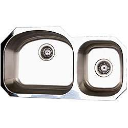 Stainless Steel Double Offset Undermount Kitchen Sink