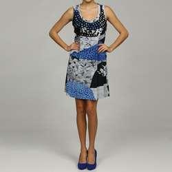 Argenti Womens Embellished Sleeveless Floral Dress