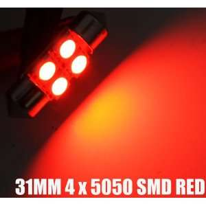 31mm De3175 3175 Map Interior LED Light Bulb RED SMD Automotive