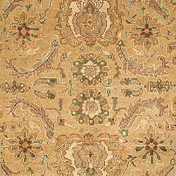 Oushak Legacy Hand knotted Sari Gold/ Ivory Wool Rug (9 x 12
