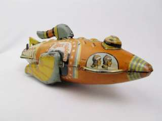 Vintage Marx Buck Rogers Wind Up Space Ship Rocket Toy