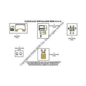 Cadillac Escalade Dash Trim Kit 02 02   27 pieces   Green Carbon Fiber
