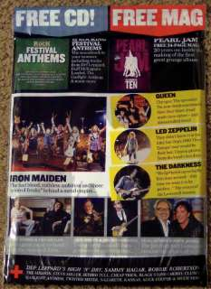 CD IRON MAIDEN Queen LED ZEPPELIN July 2011 Free PEARL JAM Mag
