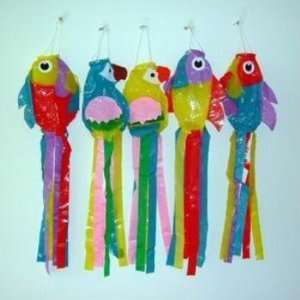 Assorted Color Bird Wind Ornaments Case Pack 72