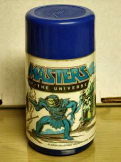 1983 MASTERS OF THE UNIVERSE  plastic thermos C 8