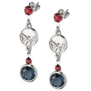 Washington Capitals Earrings NHL Logo w/ Team Colors