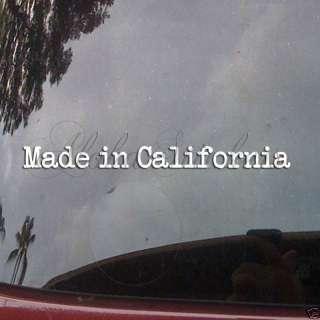 MADE IN CALIFORNIA Vinyl Decal Car Truck Sticker MI190