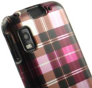 NEW PINK PLAID HARD CASE COVER FOR MOTOROLA ATRIX 4G