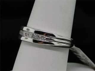 MENS 14K WHITE GOLD .50 CT DIAMOND WEDDING BAND RING