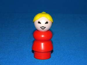 Play Family Fisher Price Little People Dark Red MOM w/Ponytail