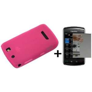 Hot Pink Silicone Soft Skin Case Cover for Blackberry Thunder 9500