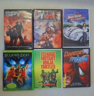 Tweens DVDs Spy Kids 1 & 3 Spiderman TMNT Herbie Fully Loaded