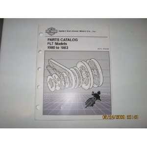 1980 1983 Harley Davidson FLT Models Parts Catalog Harley Davidson