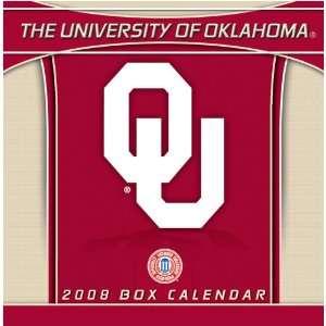 OKLAHOMA SOONERS 2008 NCAA Daily Desk 5 x 5 BOX CALENDAR Sports