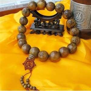 Big Tibetan Green Sandalwood Martial Art 18 Arhat Prayer Beads Mala