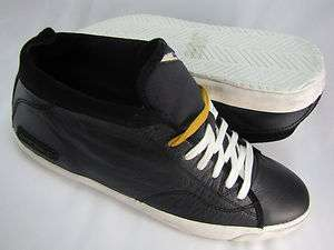DIESEL MENS MIDDAY BLACK WHITE LACE UP MID CASUAL FASHION SNEAKERS