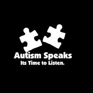 Autism Speaks Car Window Decal Sticker White 5