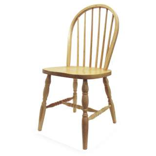 SET OF 2) Windsor Wood Dining Room Chairs Curved Legs
